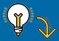 Glühbirne Logo blau.